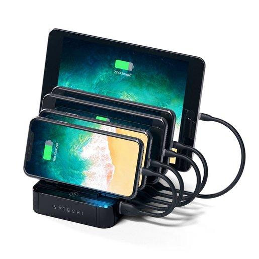 Зарядная док-станция Satechi 5-Port USB Charging Station Dock для мобильных устройств. Разъемы: USB 5В/2,4А - 4 шт., USB Qualcomm® Quick Charge™- 1 шт.