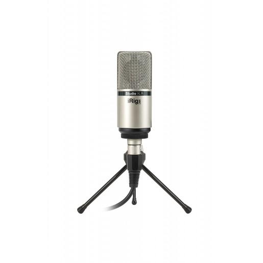 IK Multimedia iRig Mic Studio XLR студийный конденсаторный микрофон для работы с устройствами на базе iOS, Android, Mac/PC