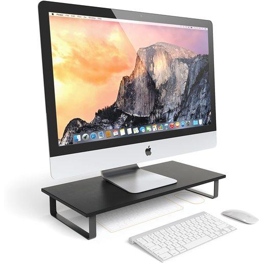 Подставка под монитор Satechi Classic Monitor Stand. Совместим с 27-дюймовым iMac, другими ноутбуками, настольными компьютерами, принтерами. Материал: МДФ, металл