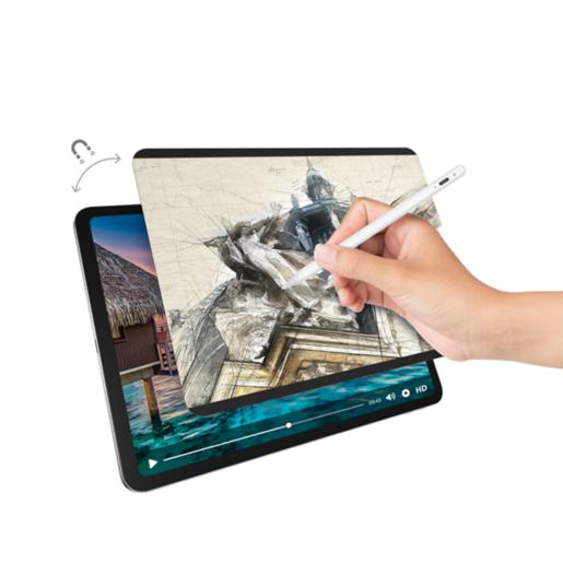 """Защитная плёнка на магнитном креплении SwitchEasy SwitchPaper Magnetic для iPad Pro 11"""" 2018-2021&2020 iPad Air 10.9"""" Цвет: Прозрачный черный GS-109-180-262-65"""