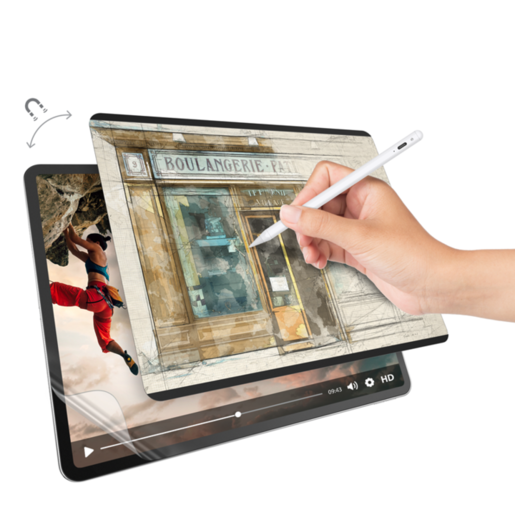 "Защитная плёнка на магнитном креплении+ Защитная плёнка SwitchPaper 2-in-1 For 2021-2018 iPad Pro 12.9"" Цвет: Прозрачный GS-109-178-263-65"
