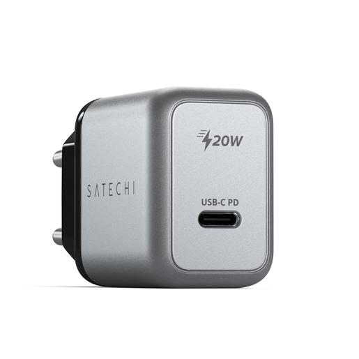 Сетевое зарядное устройство Satechi 20W USB-C PD Wall Charger. Цвет серый космос ST-UC20WCM-EU