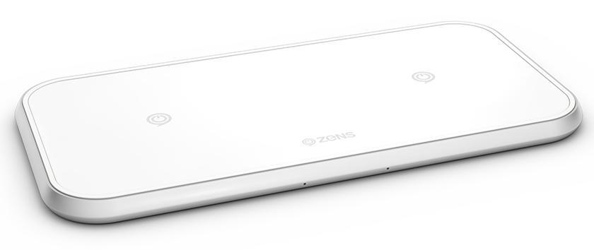Беспроводное зарядное устройство Zens Dual Aluminium Wireless Charger