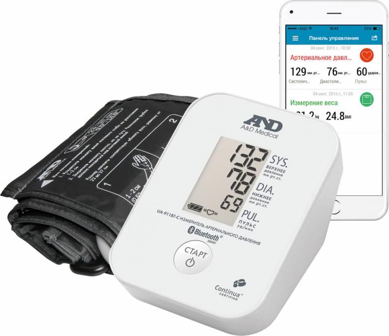 Тонометр автоматический A&D UA-911BT-C с Bluetooth