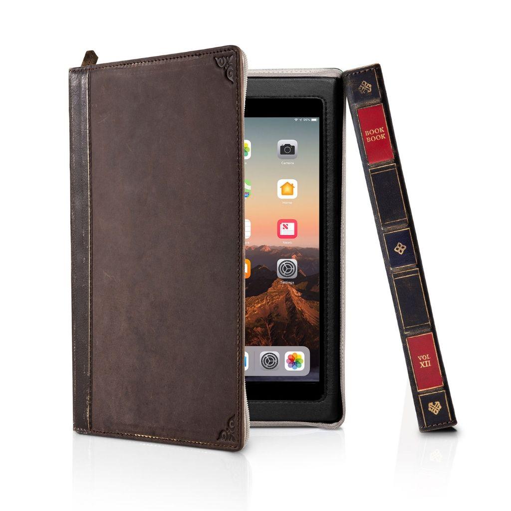 Чехол-книга Twelve South BookBook в твердом переплете для iPad mini 5, материал кожа, цвет: коричневый.