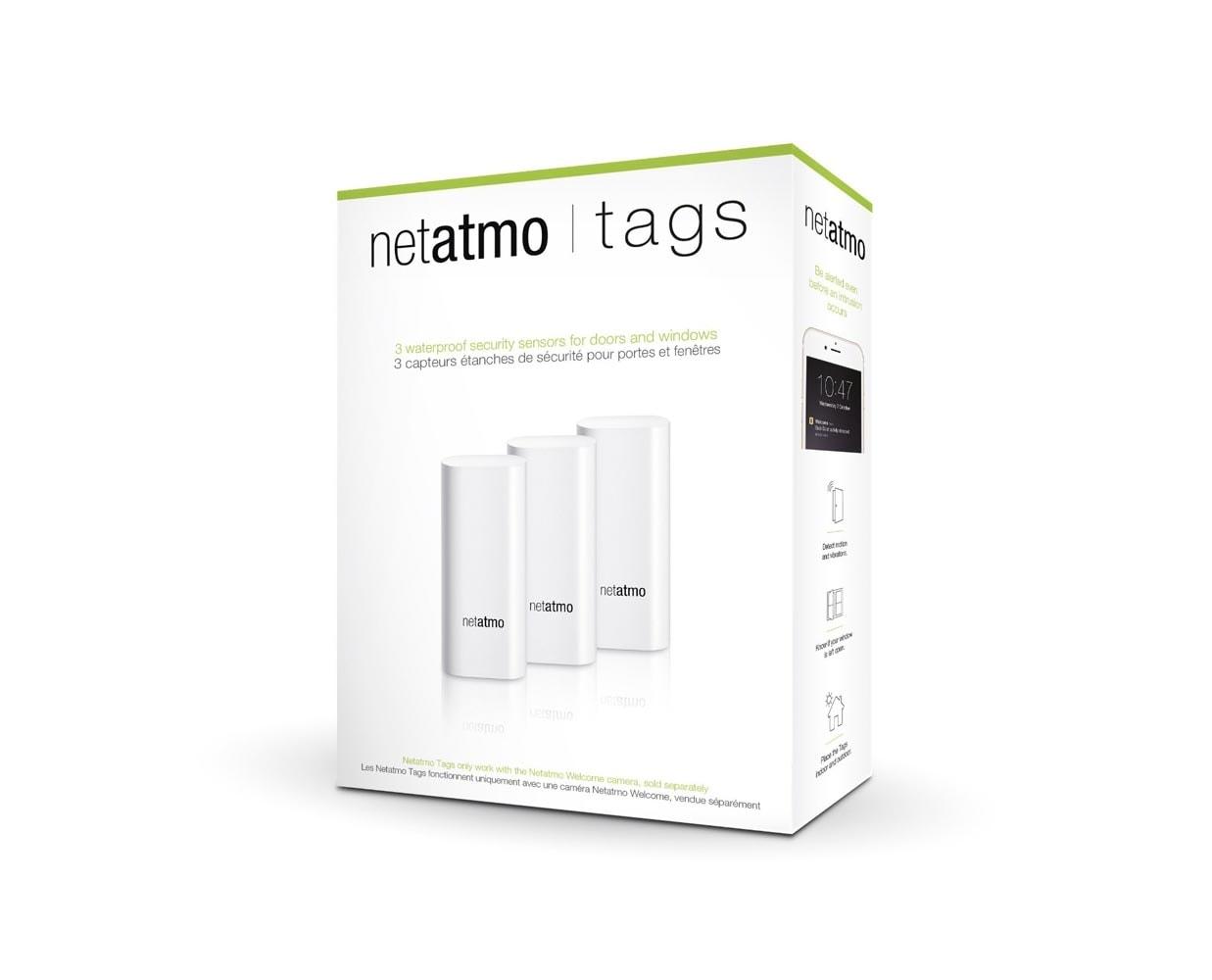 Датчики открытия Netatmo TAGS для камеры Netatmo Welcome