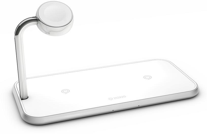 Беспроводное зарядное устройство Zens Dual+Watch Aluminium Wireless Charger