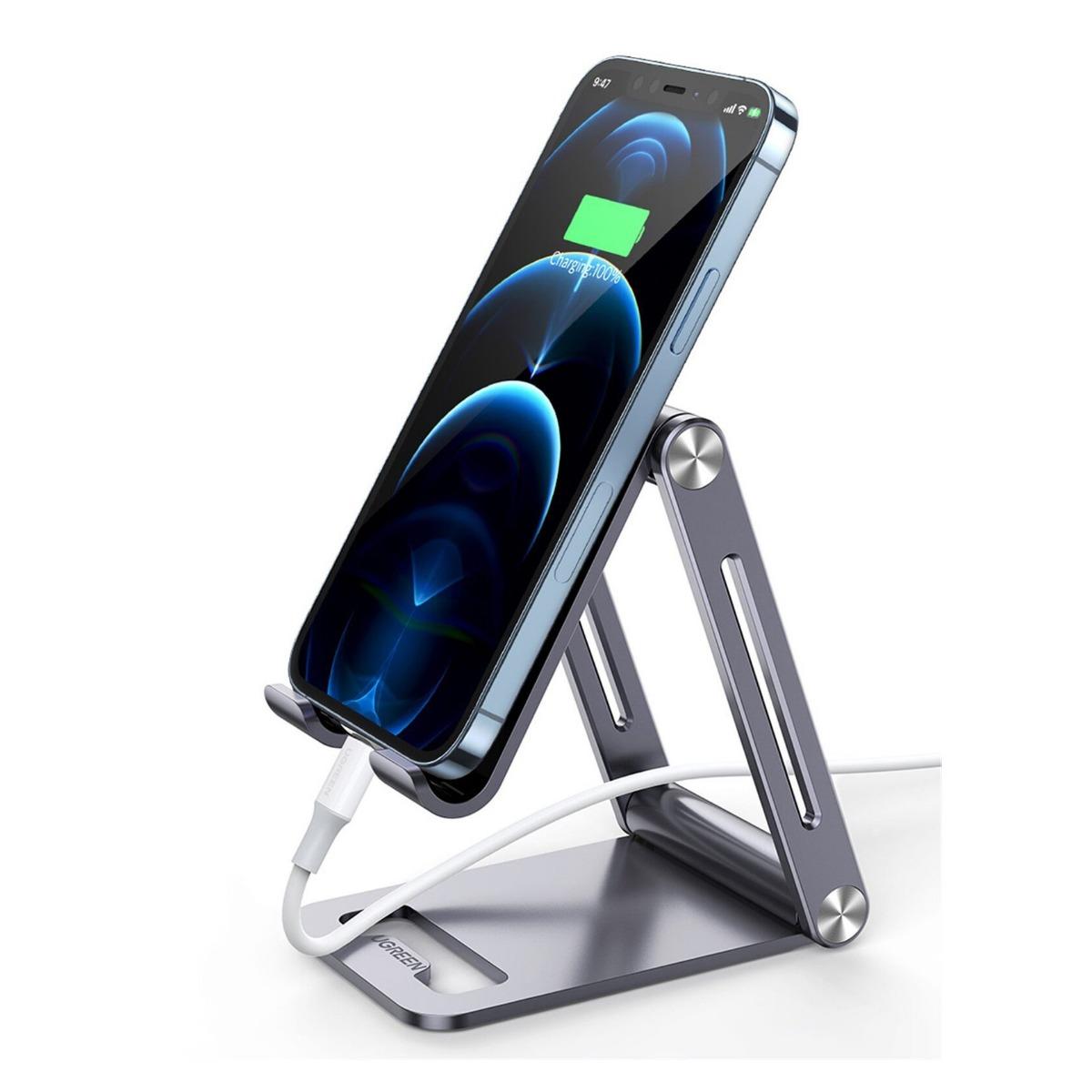 Ugreen 80708 Подставка настольная складная для телефона/планшета Adjustable Aluminum Phone Holder