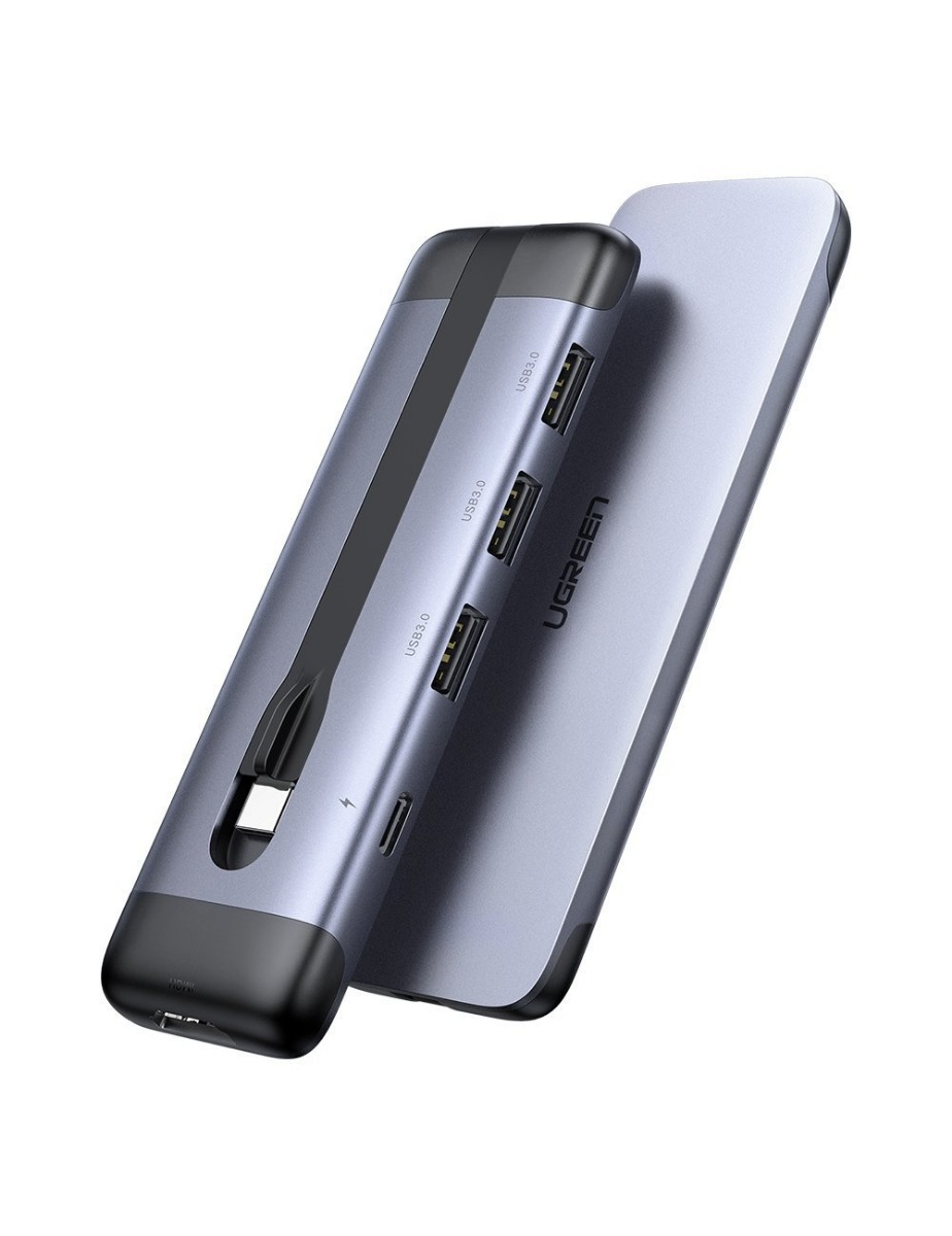 UGREEN 70408 USB концентратор Ugreen 5 в 1 (хаб), 3 х USB 3.0, HDMI, PD