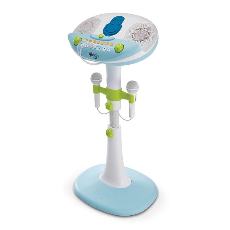 Детская караоке система с двумя микрофонами Singing Machine Kids Pedestal со съемным стендом, звуковыми эффектами и подсветкой