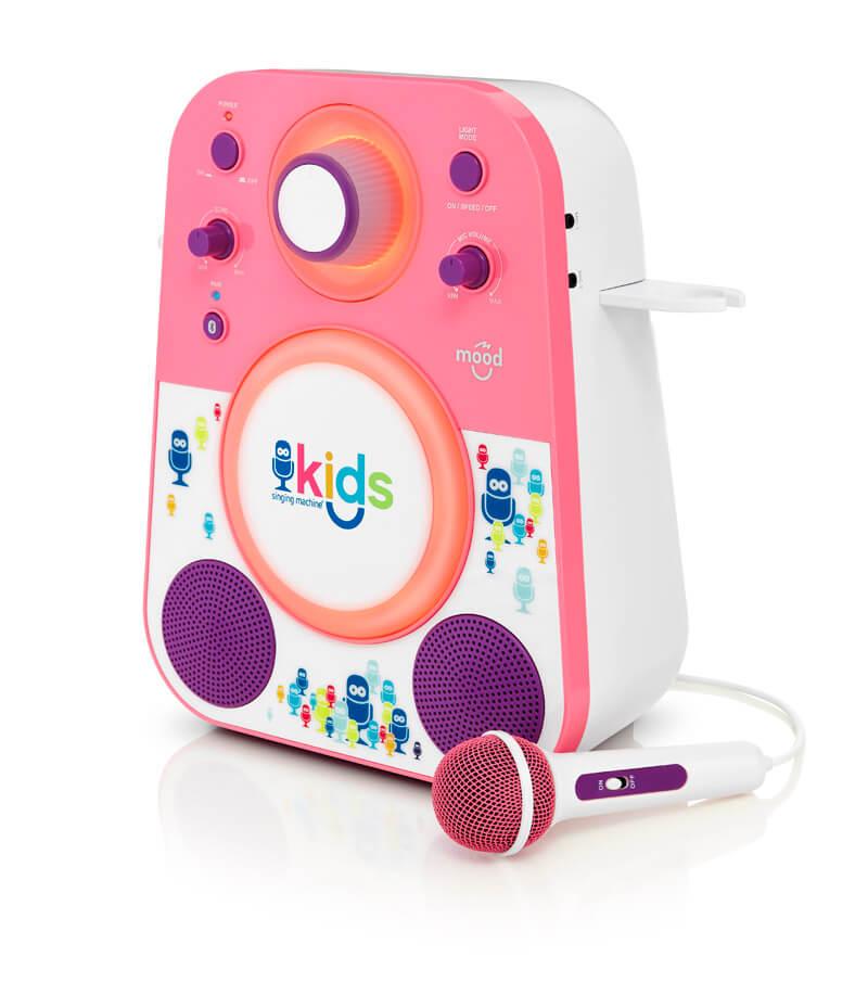 Детская караоке система Singing Machine Kids с микрофоном и цветной LED подсветкой