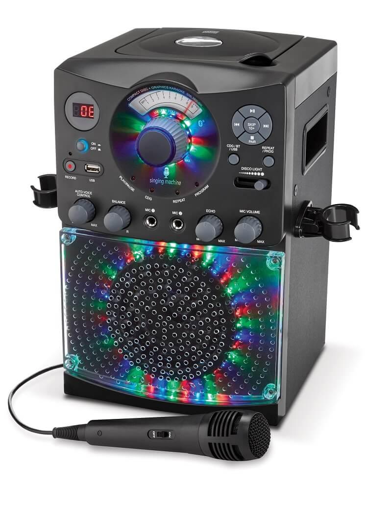 Караоке система Singing Machine с микрофоном и LED Disco подсветкой