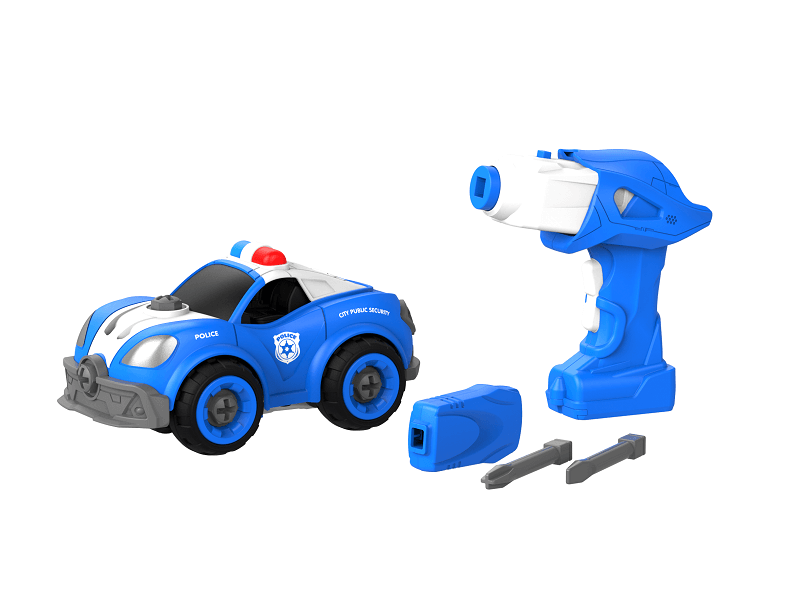 Набор пластмассовых деталей для сборки Патрульной машины с пультом ДУ (BHX TOYS: CJ-1365064)