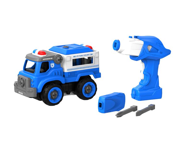 Набор пластмассовых деталей для сборки Грузовика полиции с пультом ДУ (BHX TOYS: CJ-1365076)