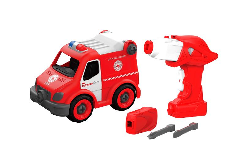 Набор пластмассовых деталей для сборки Кареты скорой помощи с пультом ДУ (BHX TOYS: CJ-1365088)