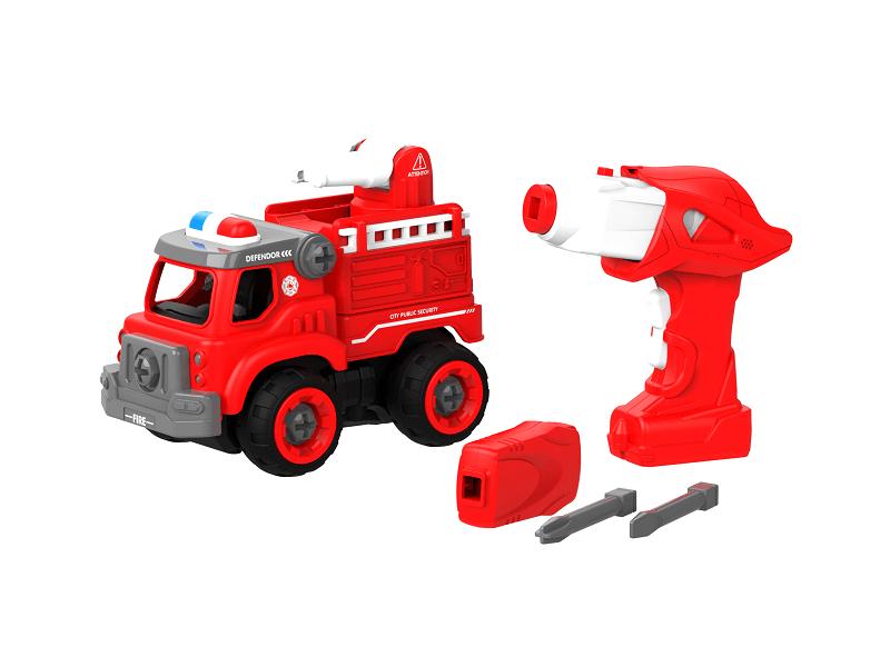 Набор пластмассовых деталей для сборки Пожарной машины с пультом ДУ (BHX TOYS: CJ-1365094)