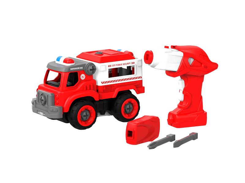 Набор пластмассовых деталей для сборки Пожарного грузовика с пультом ДУ (BHX TOYS: CJ-1365100)