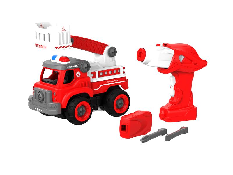 Набор пластмассовых деталей для сборки Пожарной машины с лестницей и пультом ДУ (BHX TOYS: CJ-1365106)