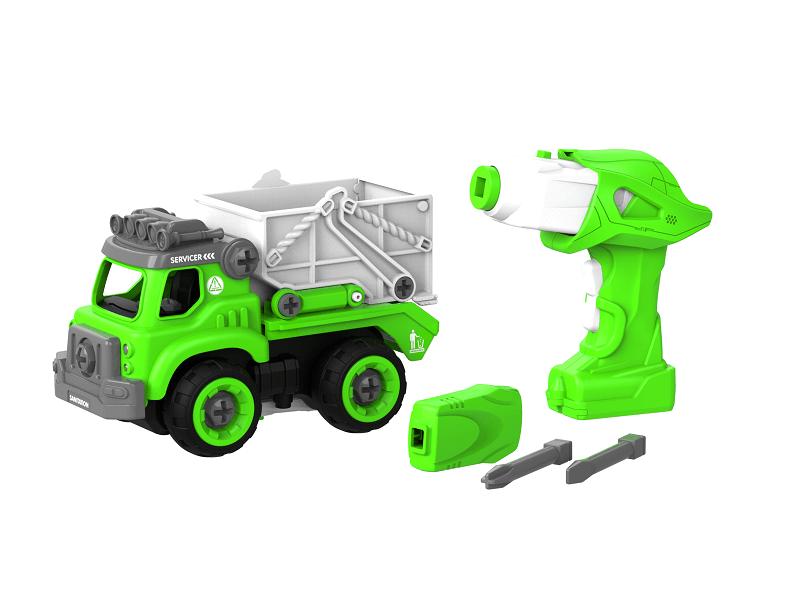 Набор пластмассовых деталей для сборки Самосвала с пультом ДУ (зеленый) (BHX TOYS: CJ-1365118)