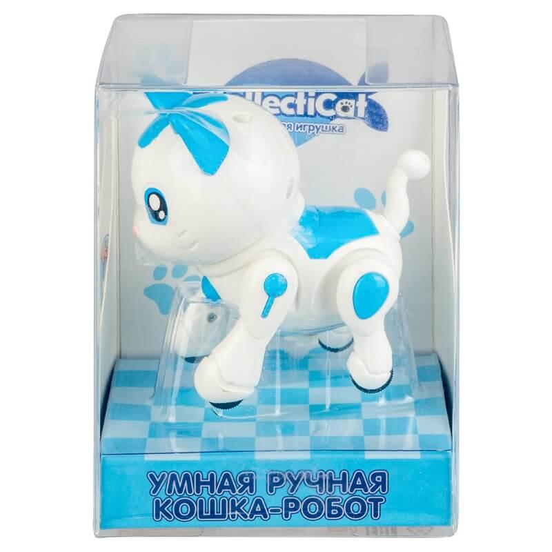 Интерактивная кошка-робот IntellectiCat, синяя (8207-blue: DEFA)