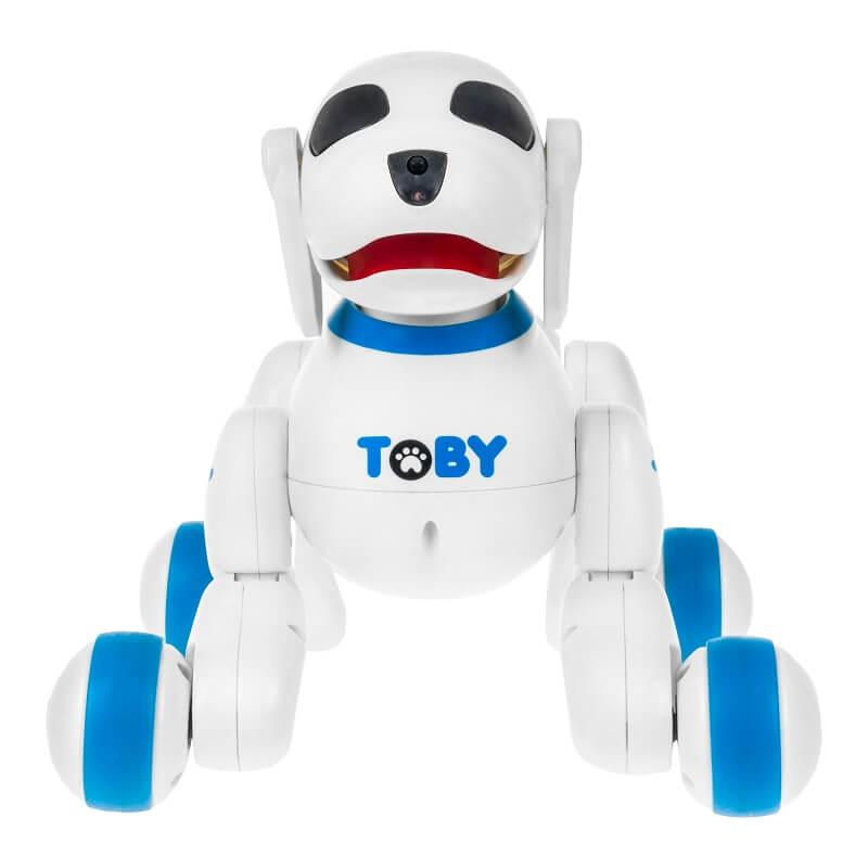 Интерактивная собака-робот с пультом ДУ Toby, синяя (8205-blue: DEFA)