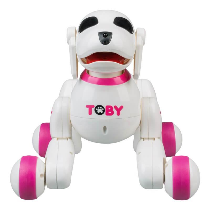 Интерактивная собака-робот с пультом ДУ Toby, розовая (8205-pink: DEFA)