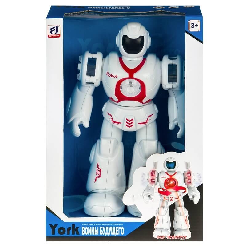 Робот со световыми и звуковыми эффектами YORK, красный (6032-red: DEFA)