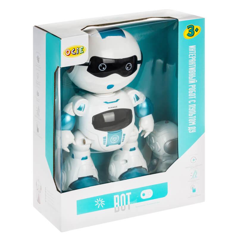 Интерактивный робот с пультом ДУ Bot бирюзовый (OTC0875363: OCIE)