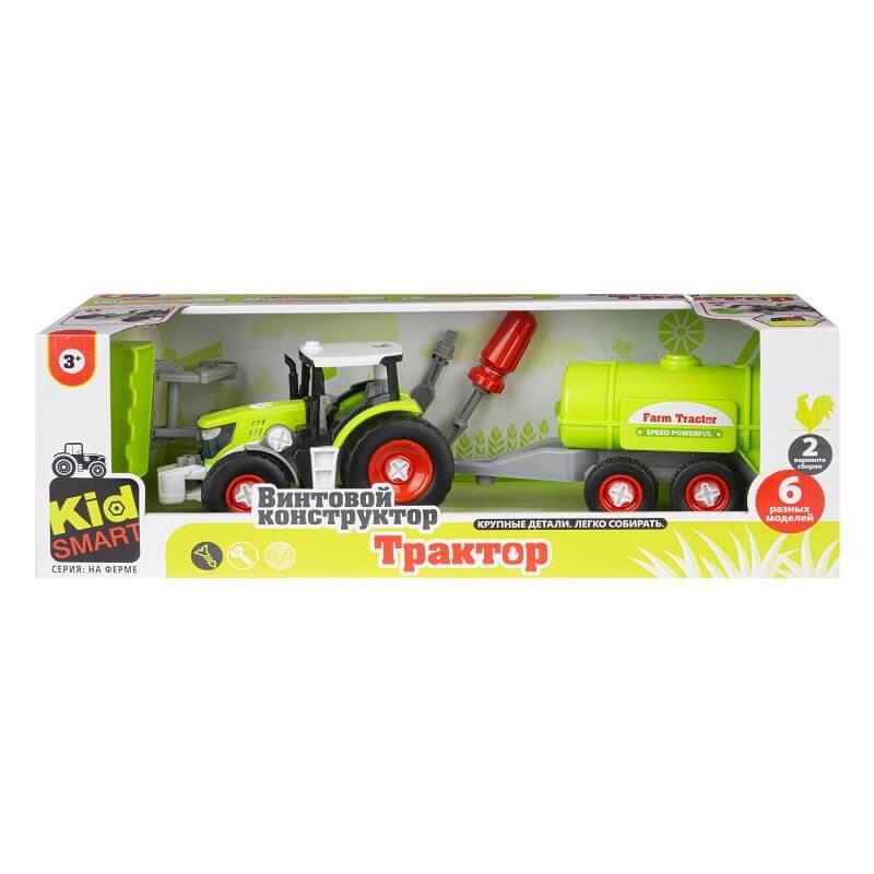 Набор пластмассовых деталей для сборки трактора с цистерной (Union Vision: KM-282B)