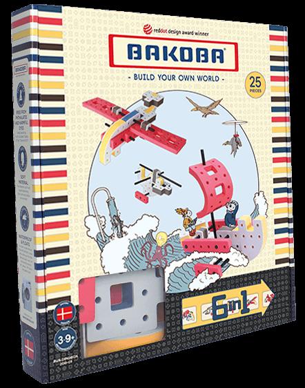 Мягкий конструктор BAKOBA Вертолет (25 деталей)