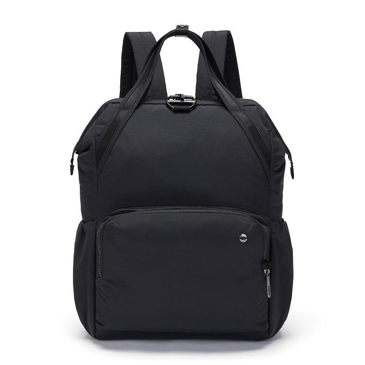 Женский рюкзак антивор Pacsafe Citysafe CX Backpack, черный ECONYL, 17 л.