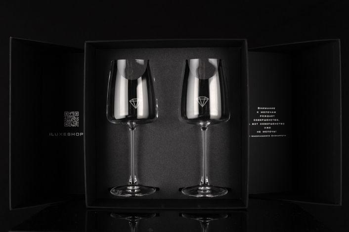 Подарочный набор с бокалами iLUXE Glasses Supreme
