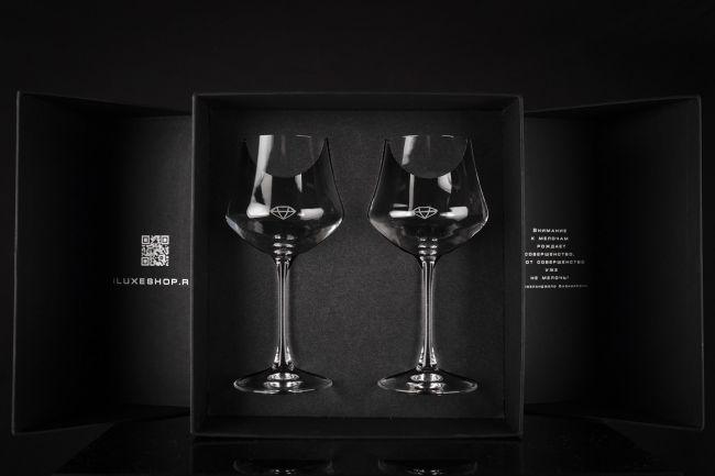 Подарочный набор с бокалами iLUXE Glasses Elegant