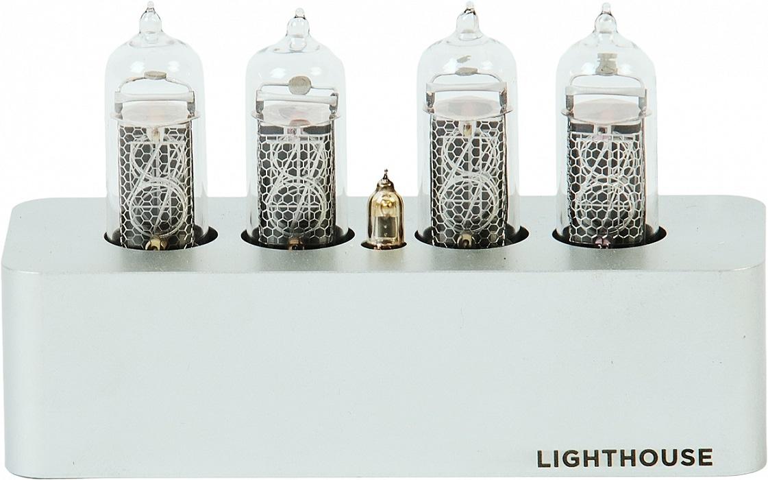 Часы на газоразрядных индикаторах Lighthouse IN-14 Silver