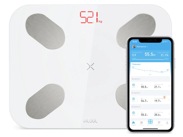 Умные весы Picooc S1 Pro V2 (Bluetooth, 34x26 см)