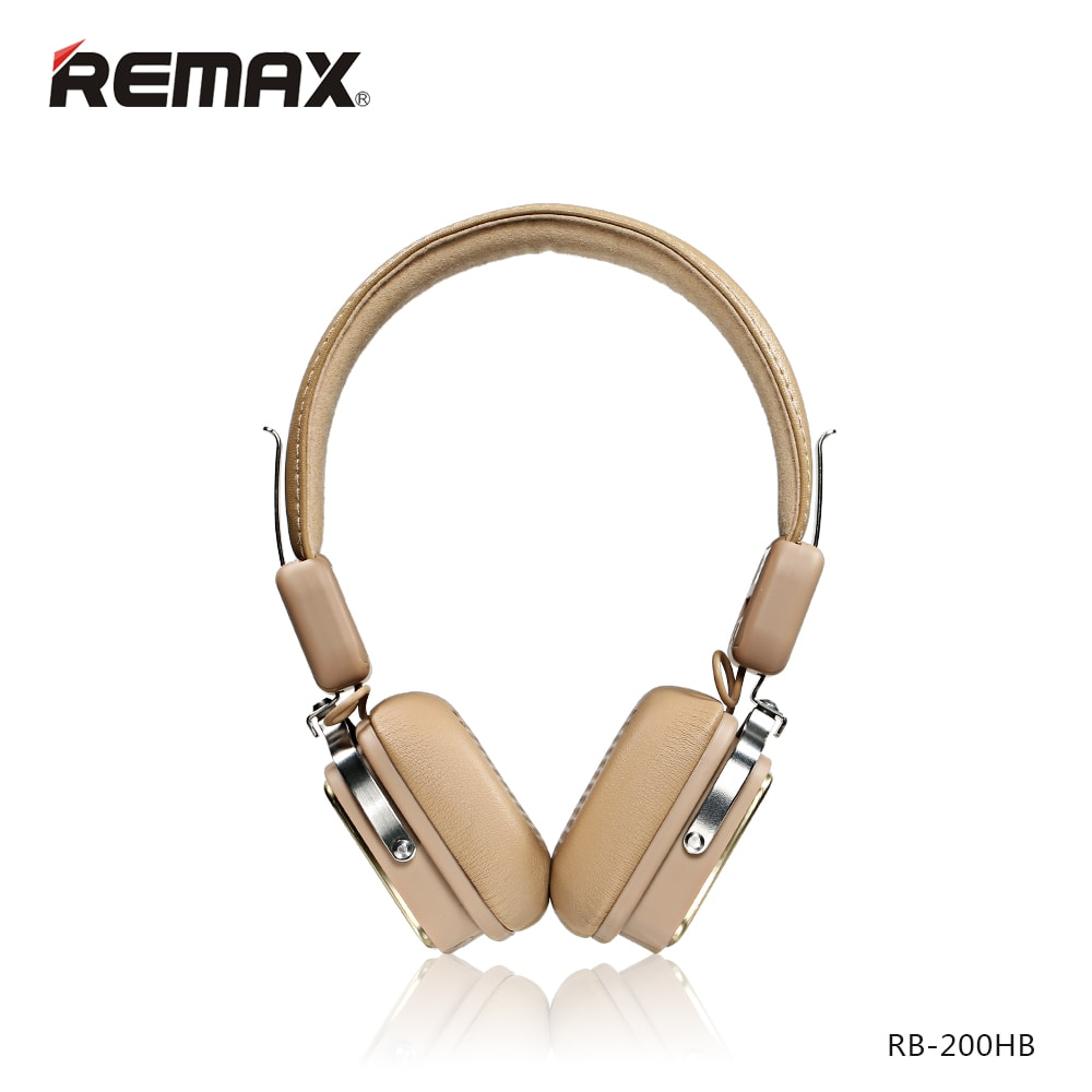 Стереонаушники Bluetooth Remax RB-200HB (бежевый)