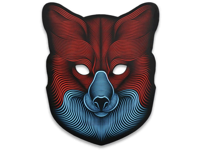 Cветовая маска с датчиком звука GeekMask Fox