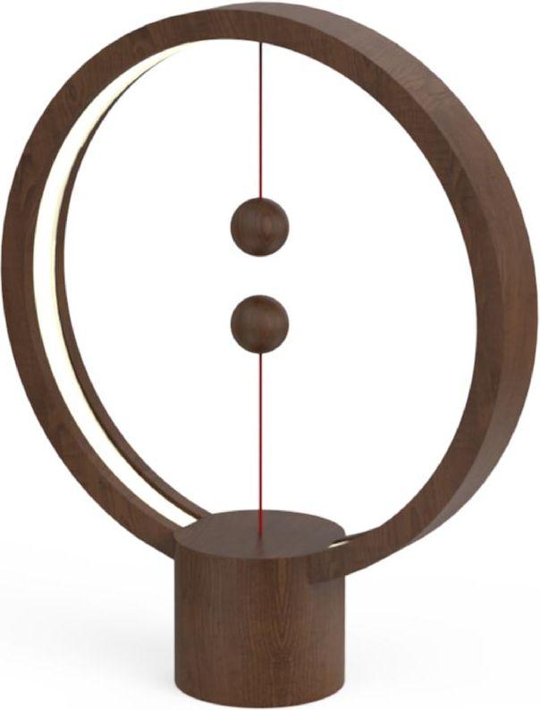 Ночник Allocacoc Heng Balance Lamp круглая Темное дерево