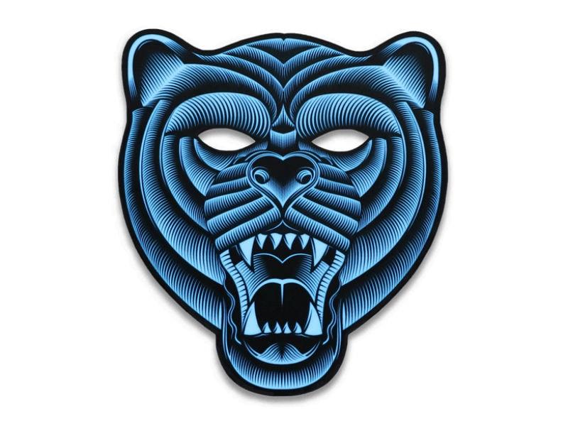 Cветовая маска с датчиком звука GeekMask Grizzli