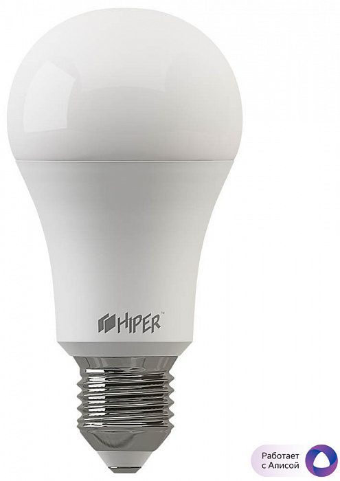 Умная лампа c разноцветной подсветкой HIPER IoT A60