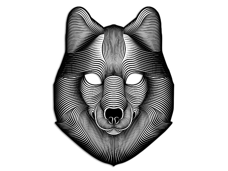 Cветовая маска с датчиком звука GeekMask Shadow Wolf