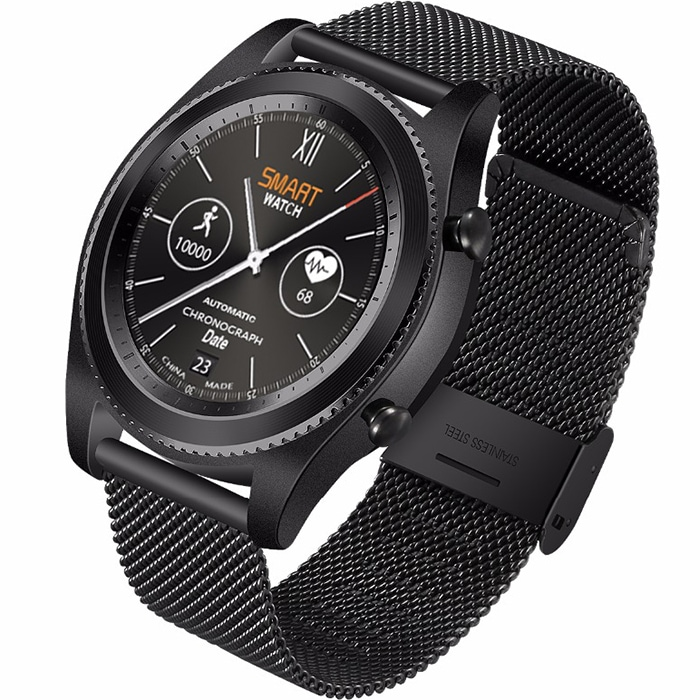 Умные часы NO.1 S9 Steel strap series чёрные