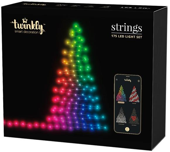 Smart-гирлянда Twinkly Strings RGB 175 (TW-175-S-EU-P) (175 LED-лампочек)