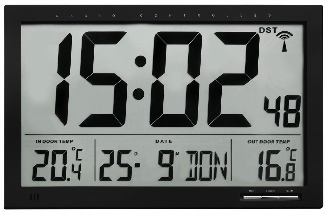 Цифровые часы TFA 60.4510.01 с термометром (Black)