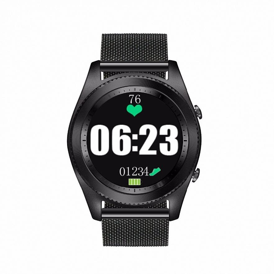 Умные часы NO.1 S9 Steel strap series чёрные (уценка, вскрытая коробка)