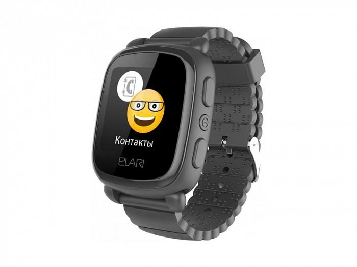 Детские часы-телефон с GPS и ГЛОНАСС Elari KidPhone 2 Black (уценка, отремонтированные)