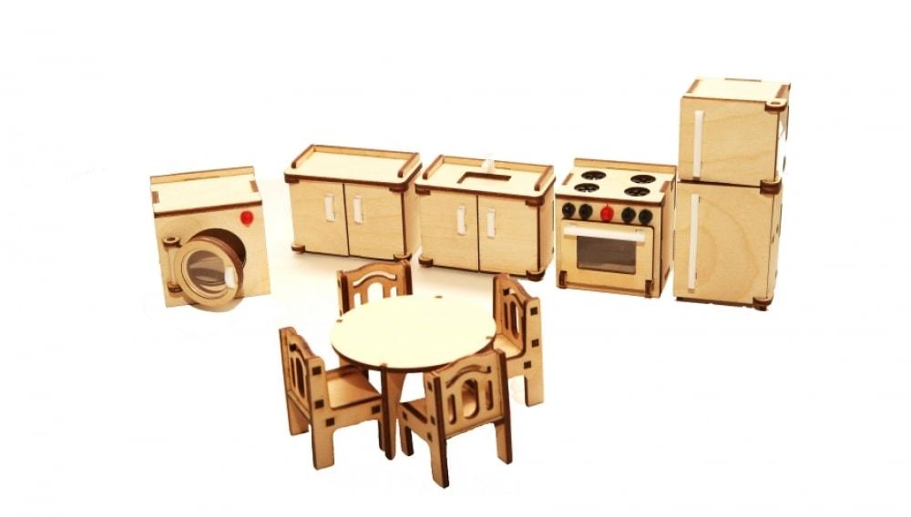 """Набор мебели Хэппикон """"Кухня"""" из дерева"""