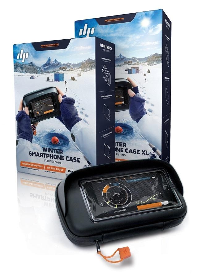 Зимний чехол Deeper для смартфона разработанный для подлёдной рыбалки