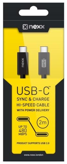 Кабель Nexx USB-C to USB-C, USB 2.0 (Black)