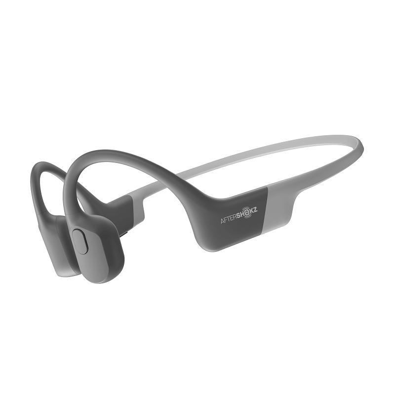 Беспроводные наушники с костной проводимостью звука AfterShokz Aeropex Gray (уценка, вскрытая коробка)
